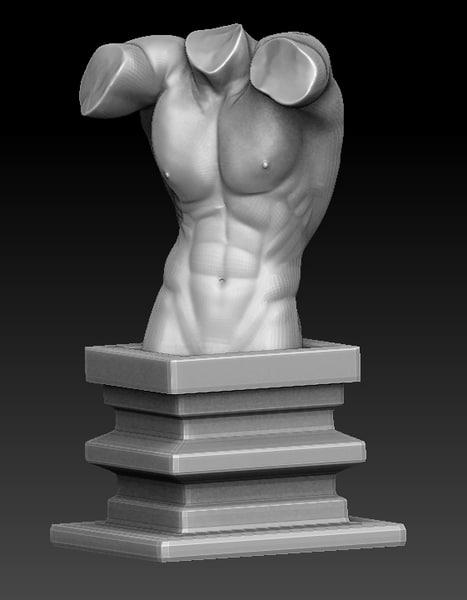 classical torso figure zbrush 3d 3ds