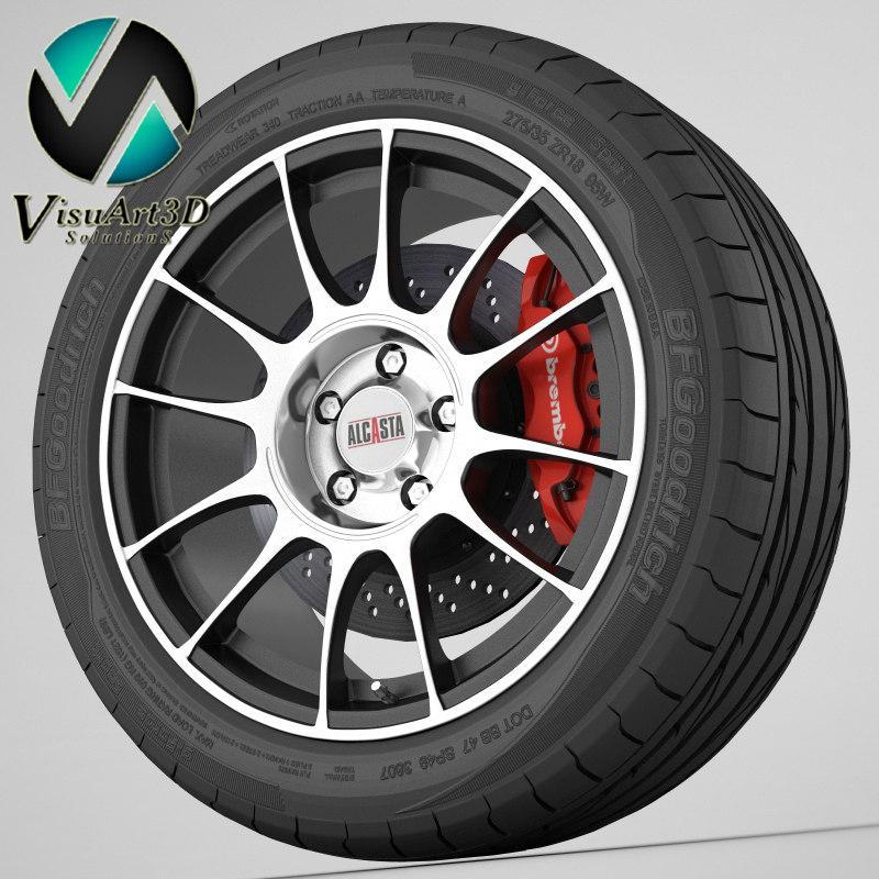 3d wheel alcasta model