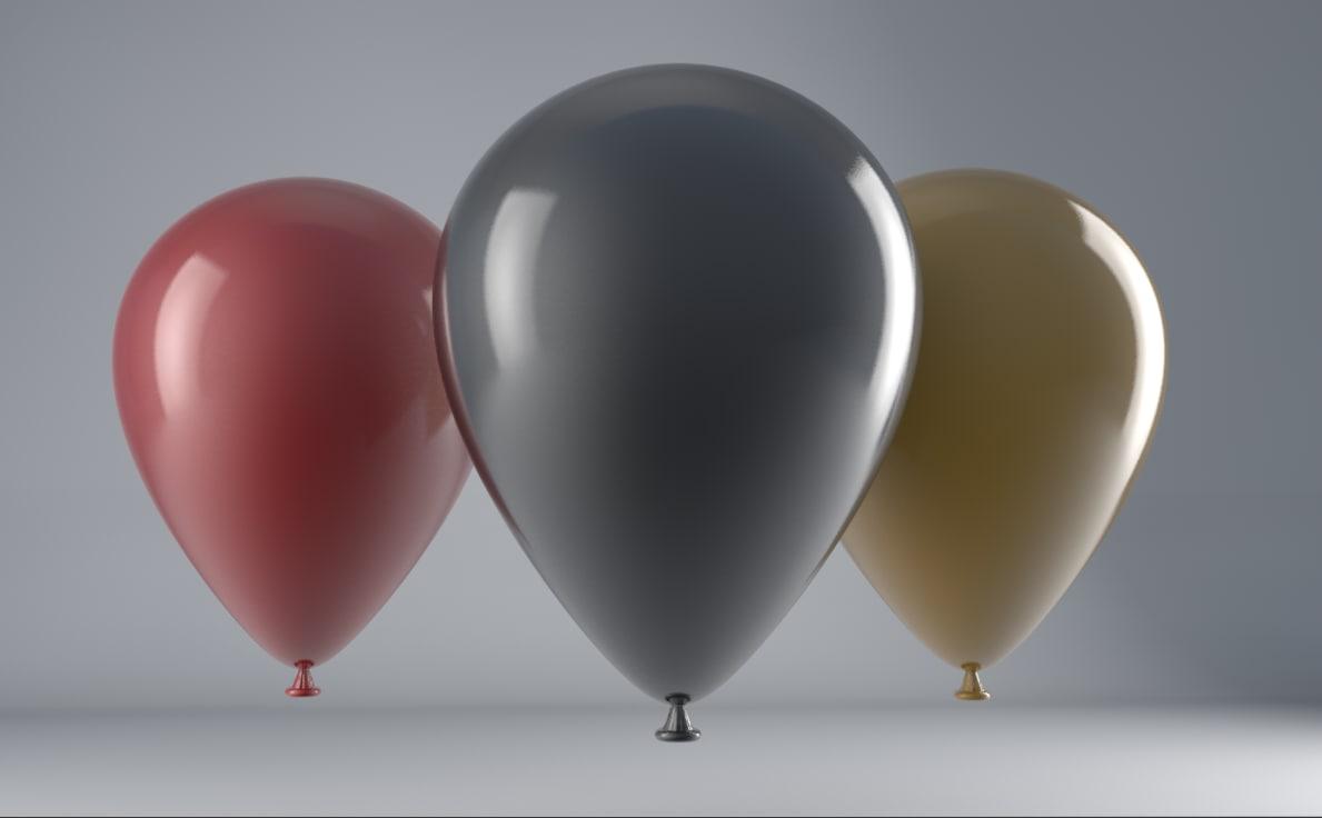 3d balloons model