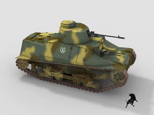 3d model of 1937 tank
