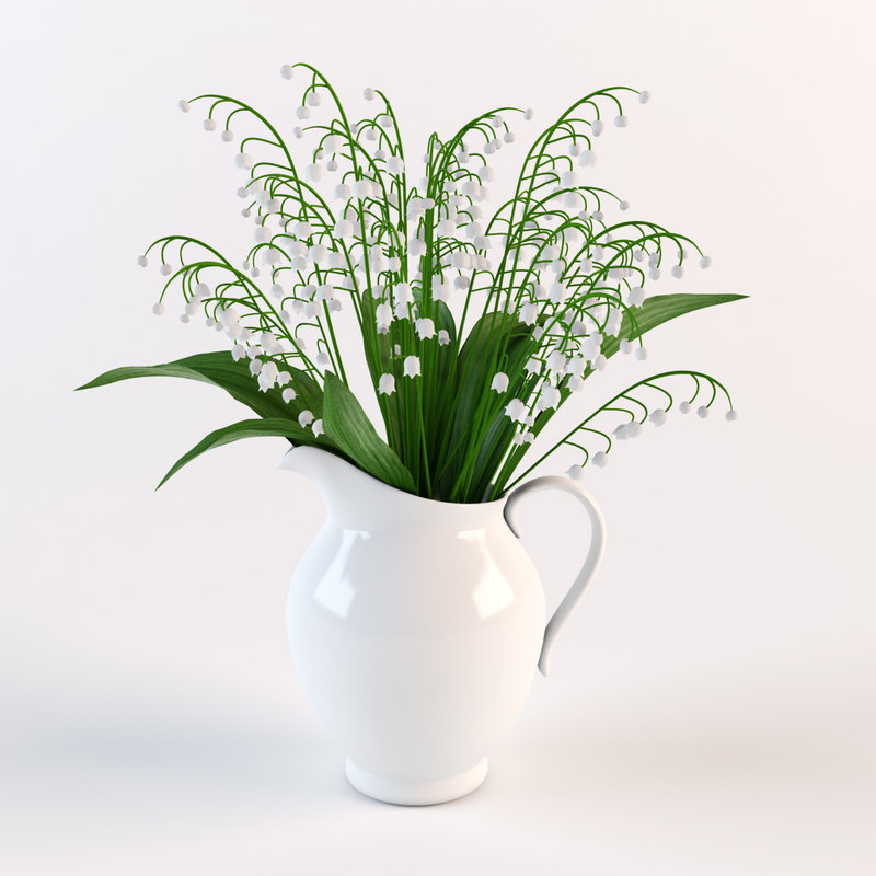 bouquet flowers pitcher 3d model