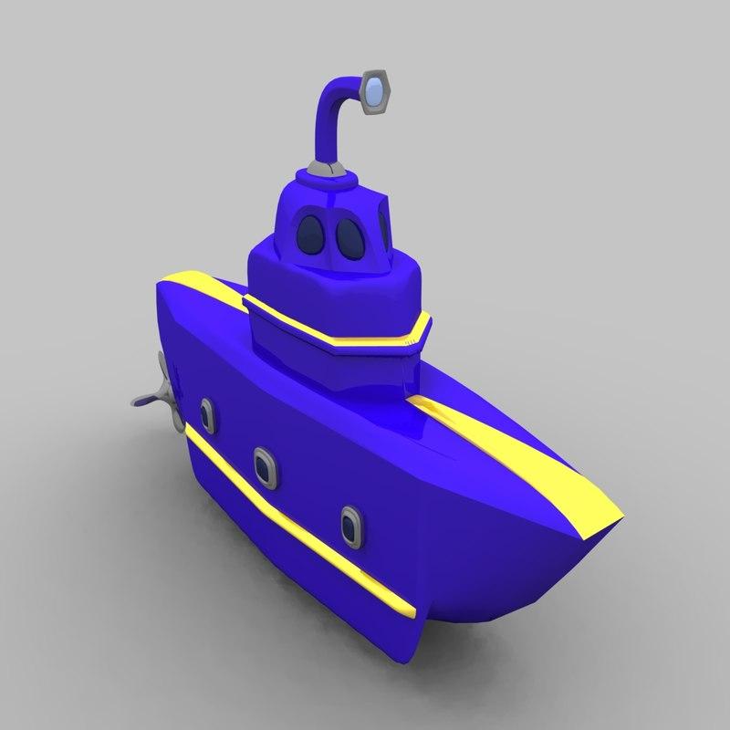 toy submarine obj free