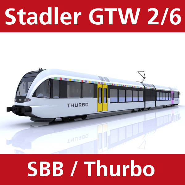 train thurbo stadler gtw 3ds