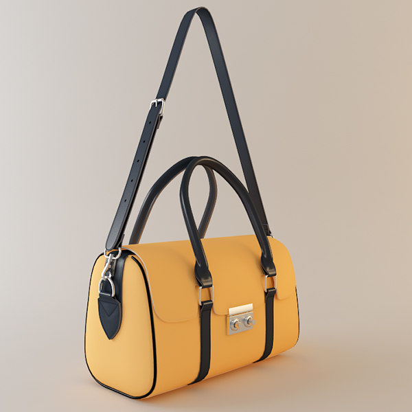 3d max leather handbag