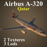 3d max airbus qtr