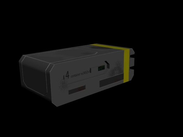 inventory boxes sci-fi 3d model