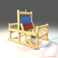 toy table loom 3d model