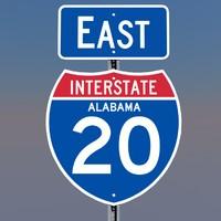 3D Alabama Interstate 20 Signs