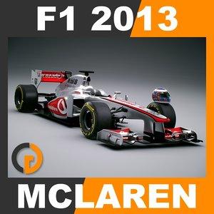 3d model of formula 1 2013 mclaren