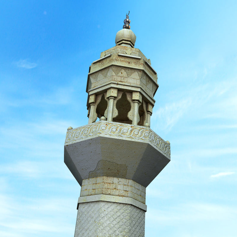 3d minaret mosque tower