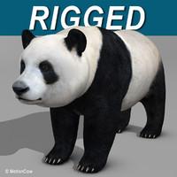 realistic panda 3d model