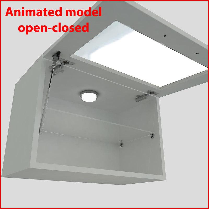 3d kitchen furnitures 60 cm model