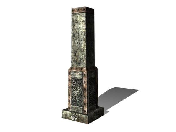 free old pillar 3d model