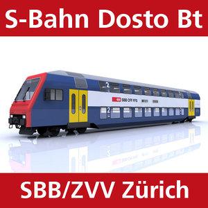 passenger train 3d model