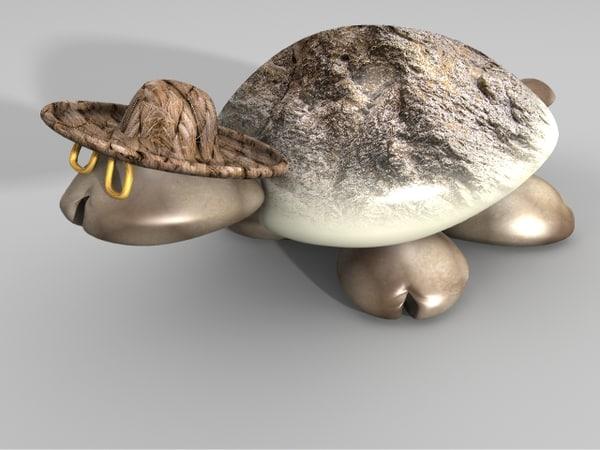 3d model sea shell turtle