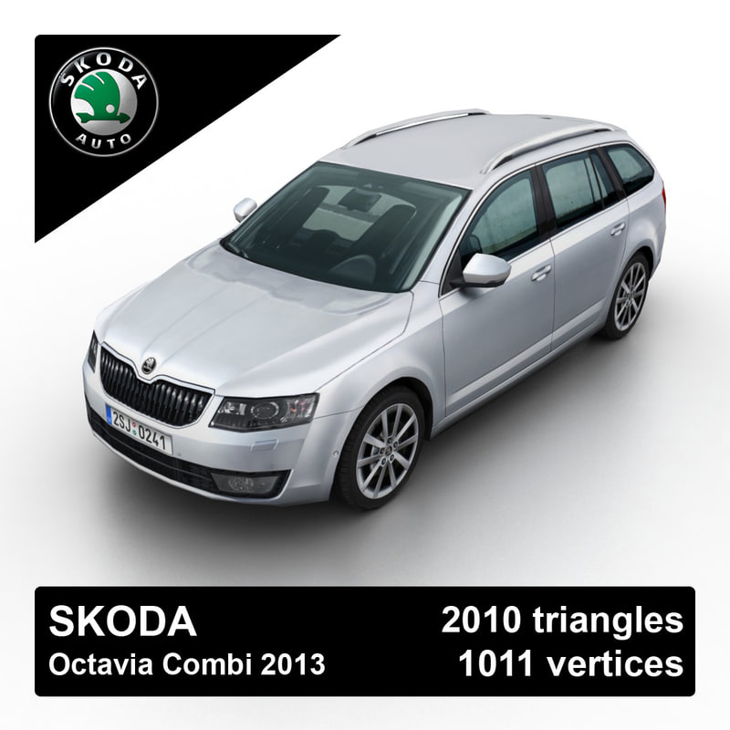 2013 skoda octavia combi 3d model
