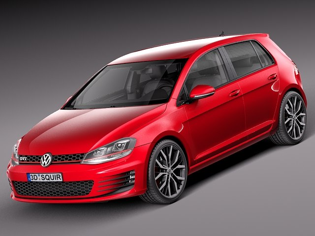 Red golf 7 gti 4 door