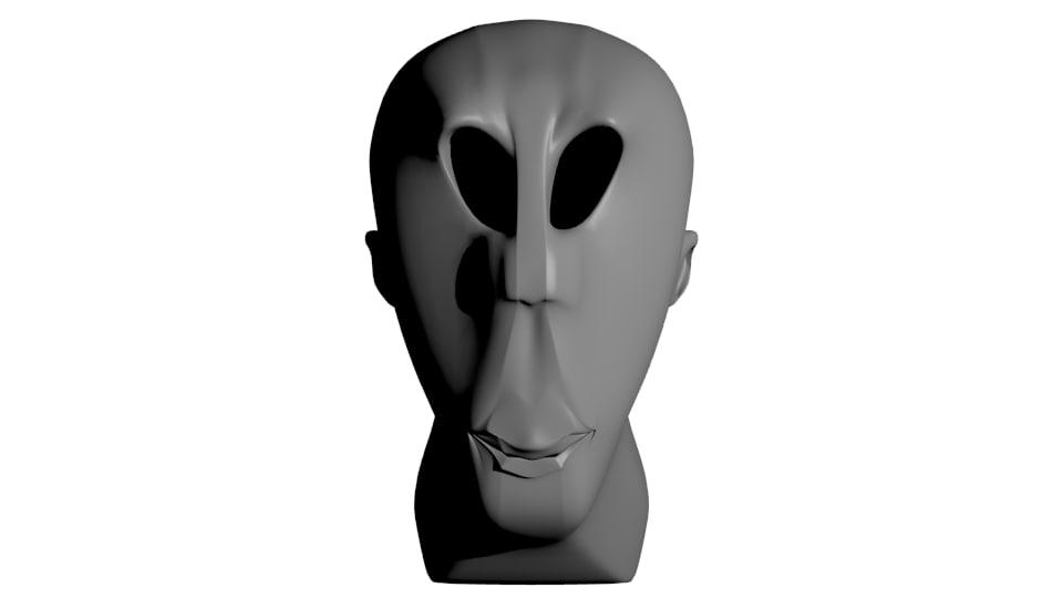 3d model alien version 1