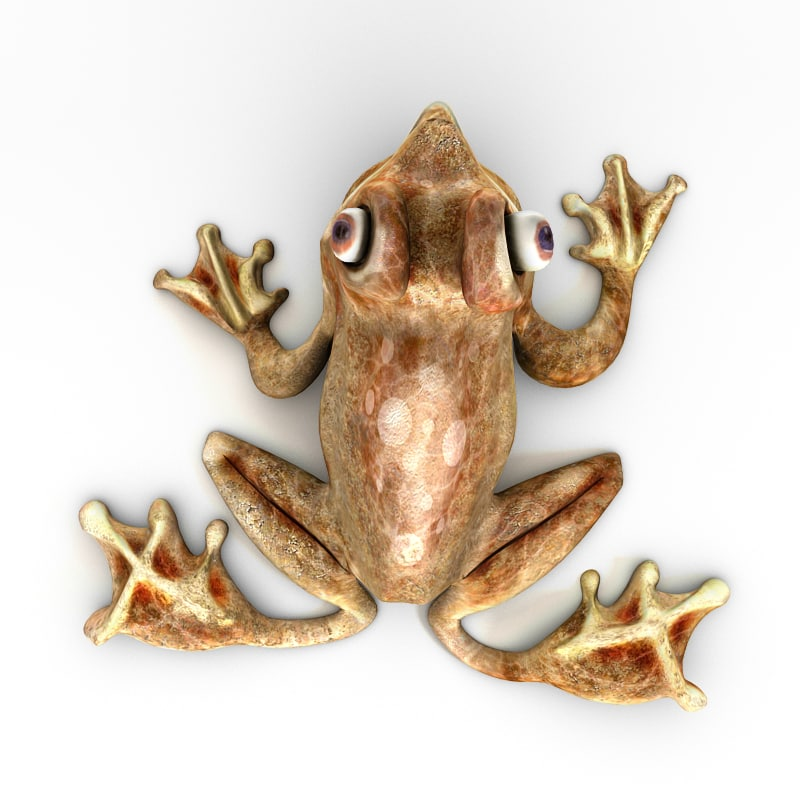 3d frog figurine model