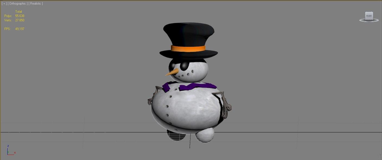 snow snowman x