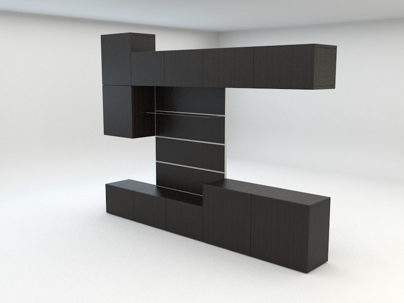 3d model ikea besta. Black Bedroom Furniture Sets. Home Design Ideas
