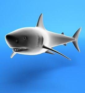 3ds max sea shark