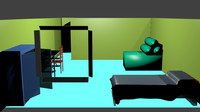 colorful bedroom 3d 3ds