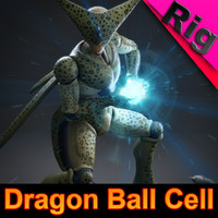 Dragon Ball Cell (rigged)