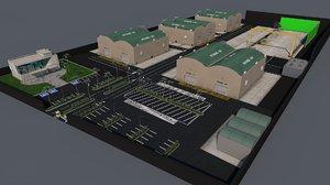 cine studio 3d model