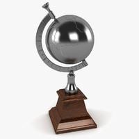 desk world globe 3d model