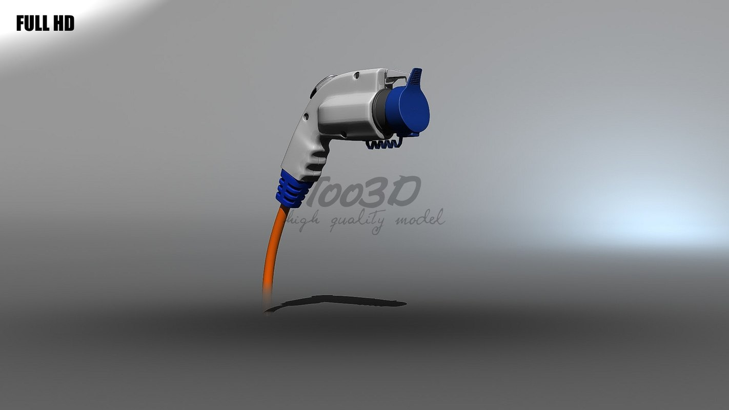 3d model electric vehicle charge