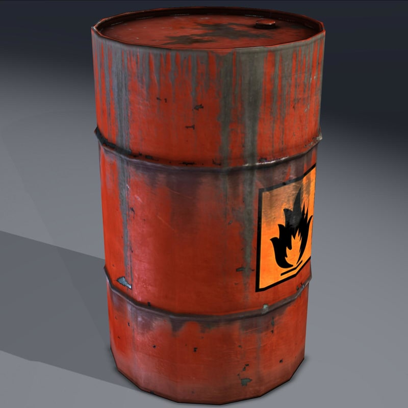 barrel flammable explosive obj
