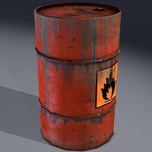 barrel flammable explosive obj