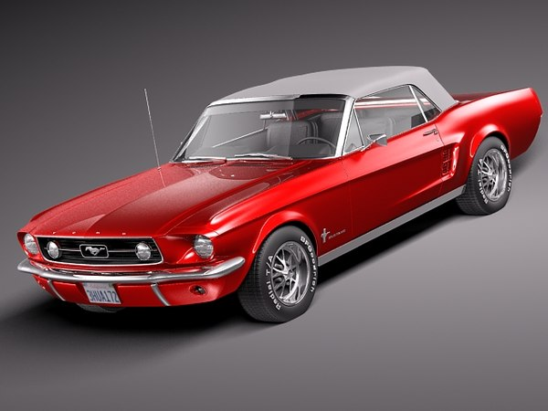 3d model 1967 muscle car antique