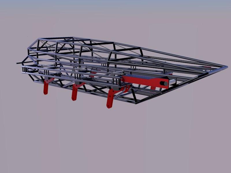3d model frame kart kartcross