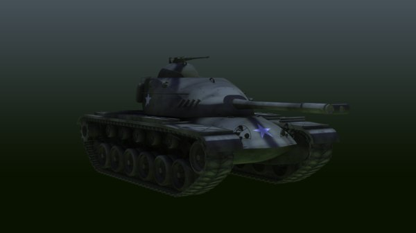 3d m48 tank model