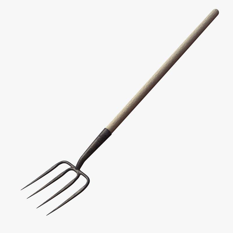 garden fork 3d model