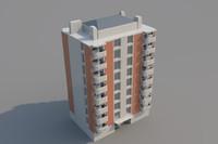 3d model apartment night