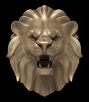 3d lion s head model