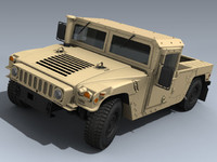 3d army hmmwv desert model