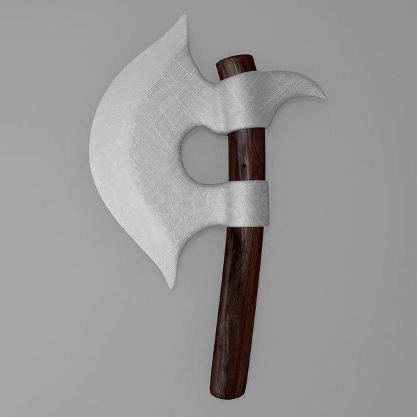 3d model medieval hand axe