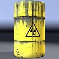3d industrial barrel radioactive