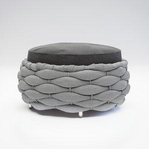 3d model pouf cobonpue
