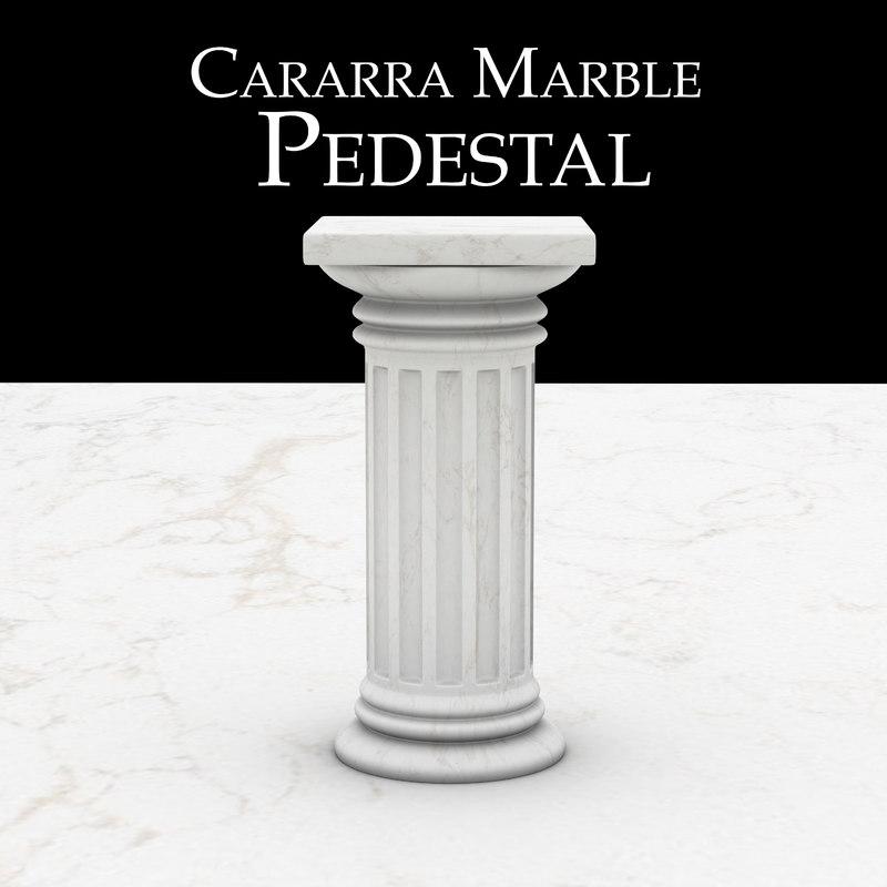 3d model carrara marble pedestal