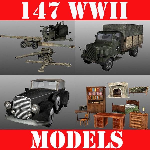 3d model world war ultimate pack