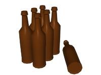 glass bottles 3ds