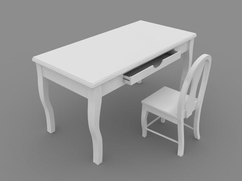 table children 3d max