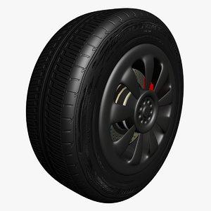 3d model bridgestone tire materials