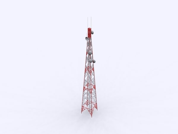 free communication tower 3d model