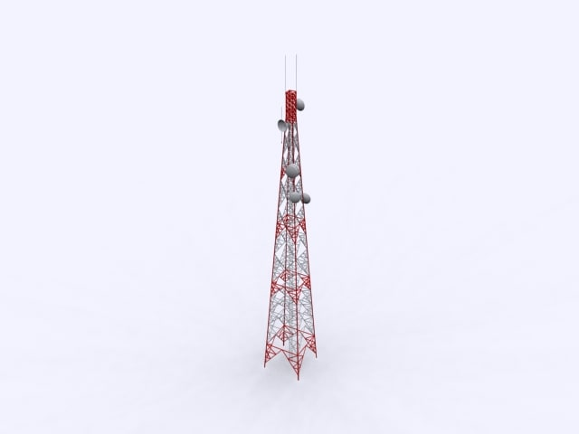 free communication tower 3d model